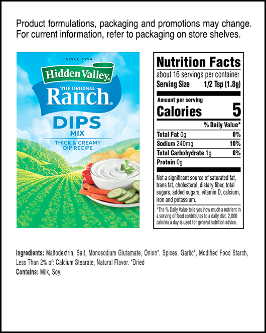 Hidden Valley Original Ranch Dips Mix Hidden Valley Ranch
