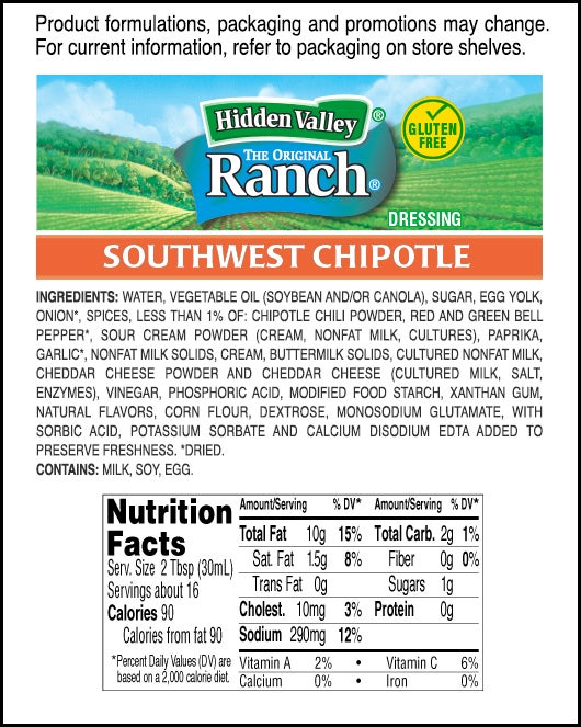 Southwest Chipotle nutritional facts