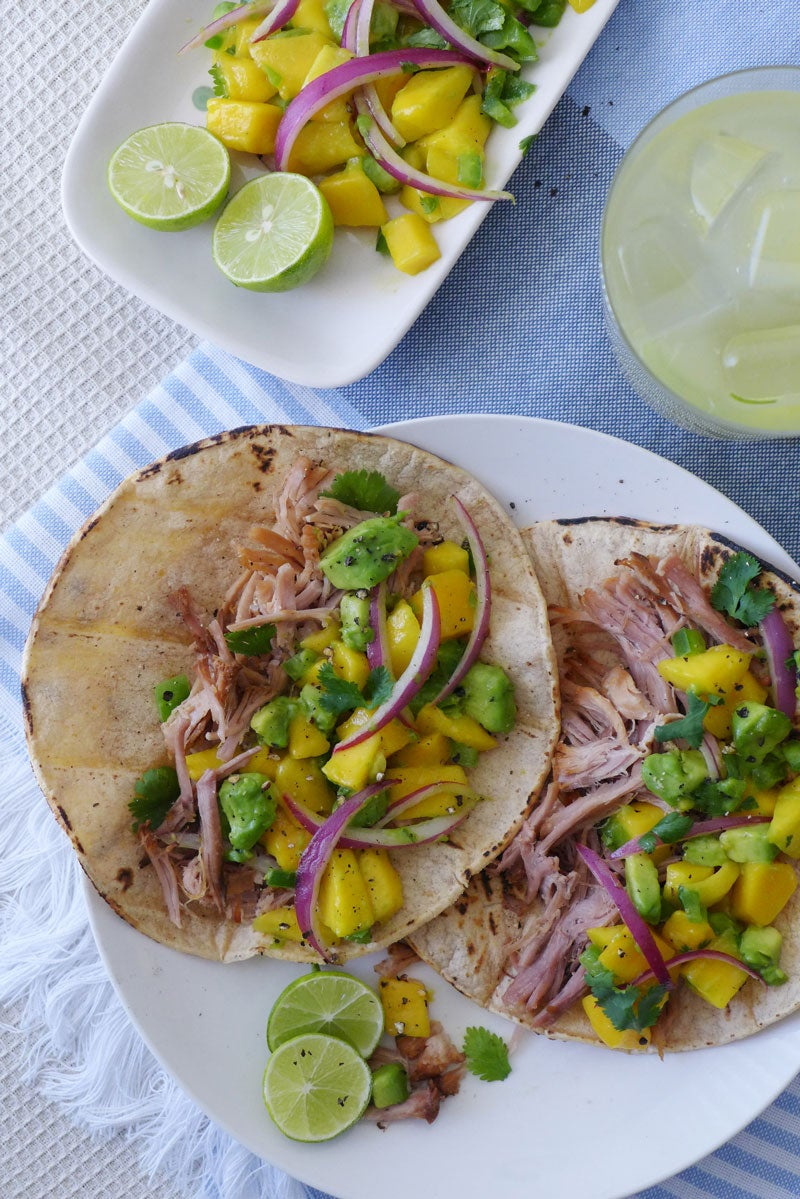 Summer Slow Cooking: Mango Chipotle Carnitas Tacos