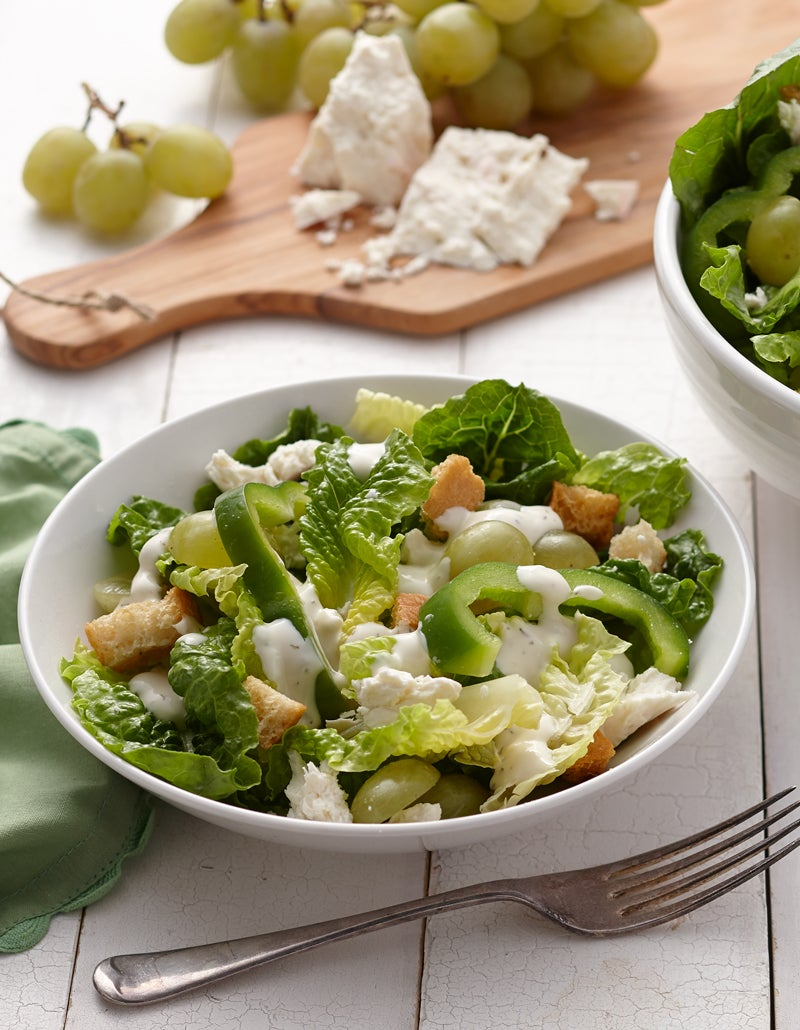 Crunchy Green Salad with Croutons Recipe picture