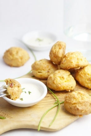 Ranch Bacon and Cheese Gougeres