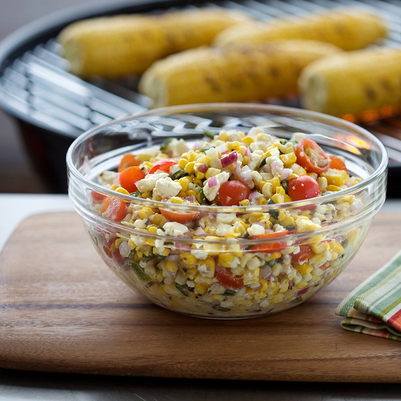 Grilled Corn Salad with Poblano Peppers Recipe | Hidden Valley®