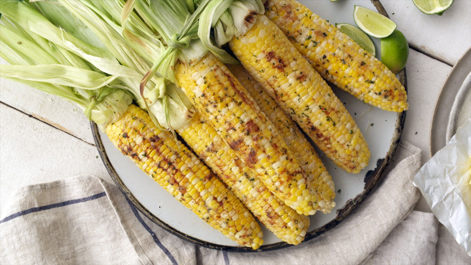 Oven Roasted Ranch Corn on the Cob