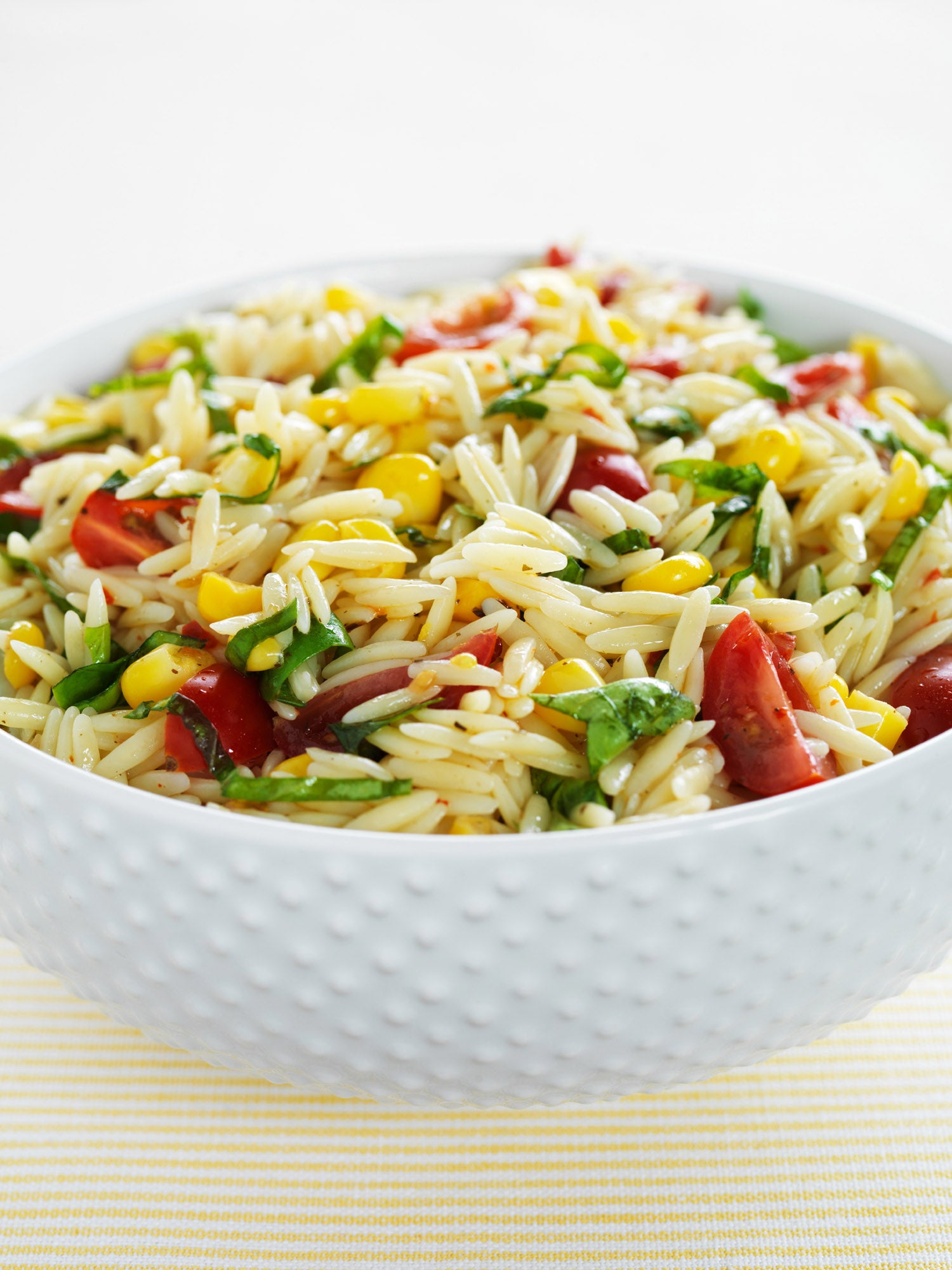 Orzo Pasta Salad with Tomatoes, Corn and Basil Recipe ...
