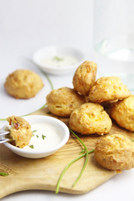 Savory Treats For Any Affair: Ranch, Bacon and Chive Gougeres