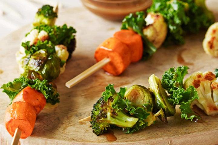 Roasted Vegetable and Kale Salad Sticks
