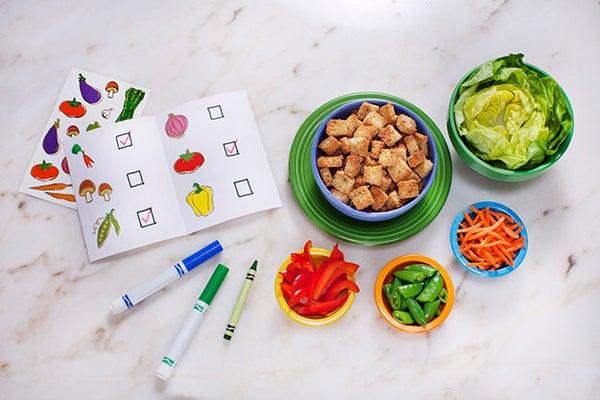 Kids Serve Up a Salad Bar