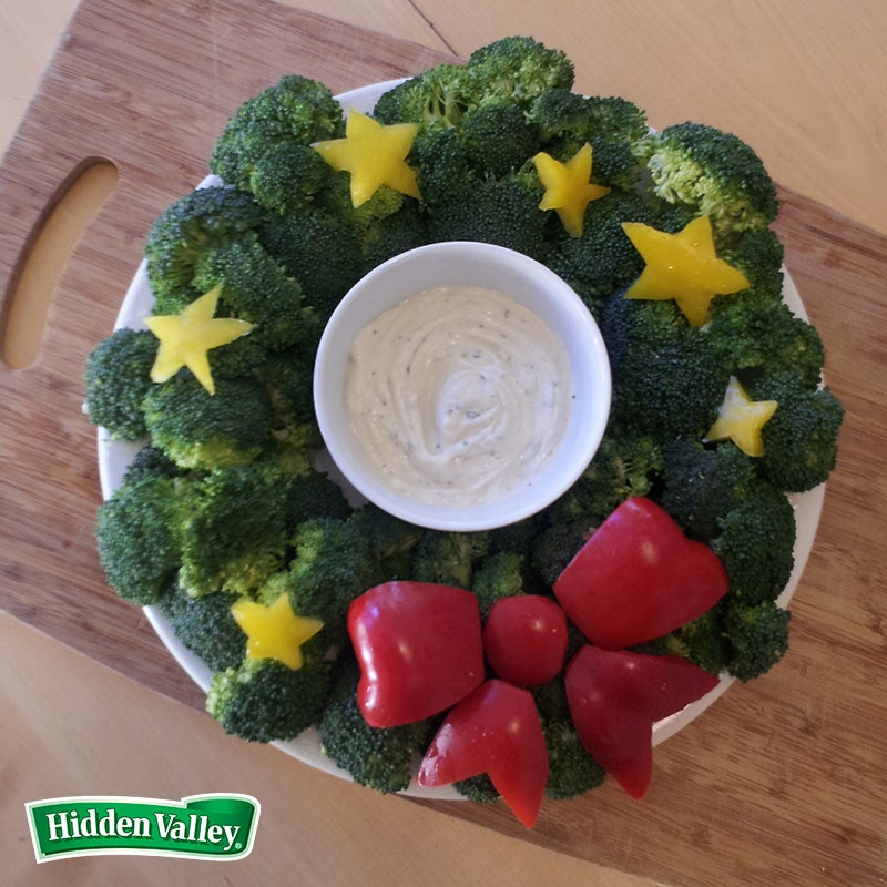 A Fun and Festive Edible Holiday Wreath