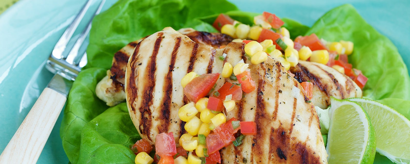 Grilled Ranch Chicken with Corn Salsa