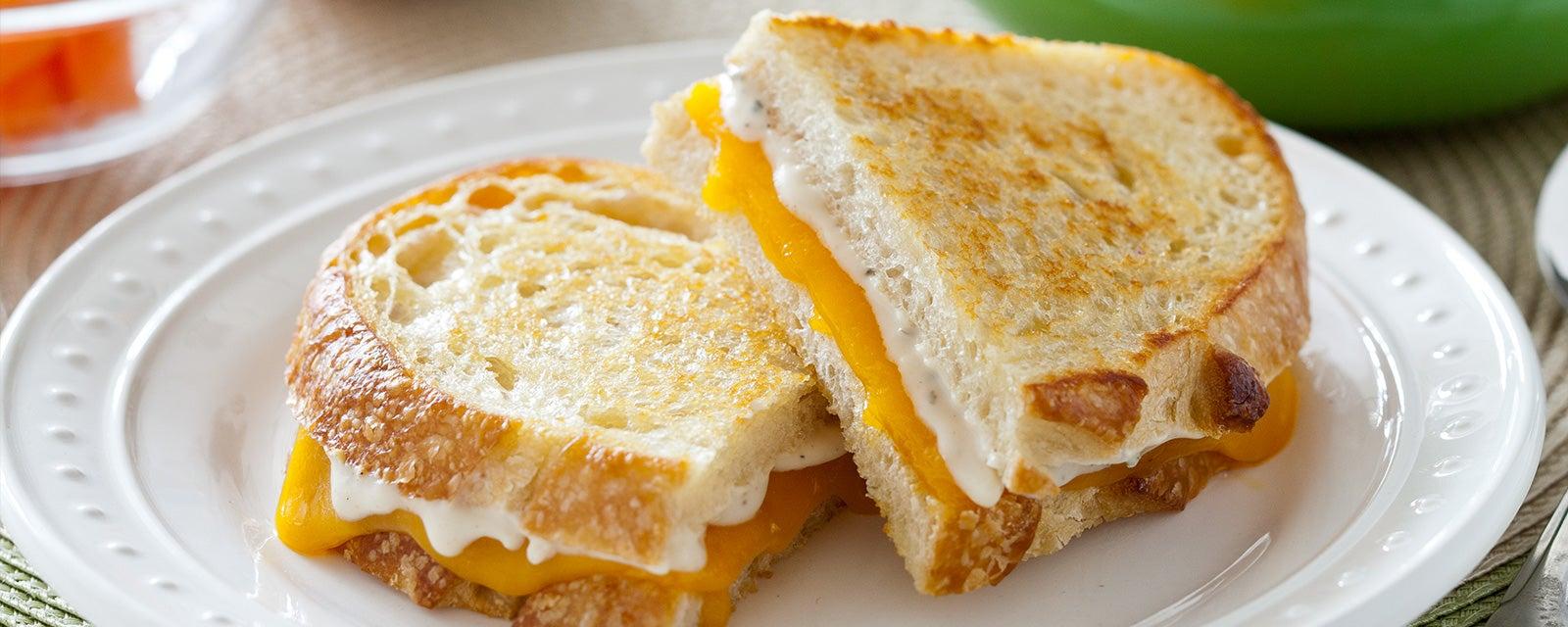 Garlic Parmesan Grilled Cheese Sandwich Recipe Hidden Valley 174 Ranch