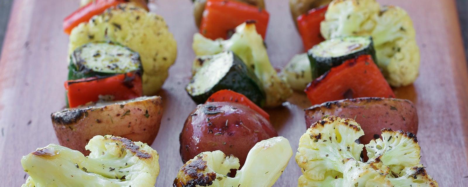 Skewered Marinated Vegetables
