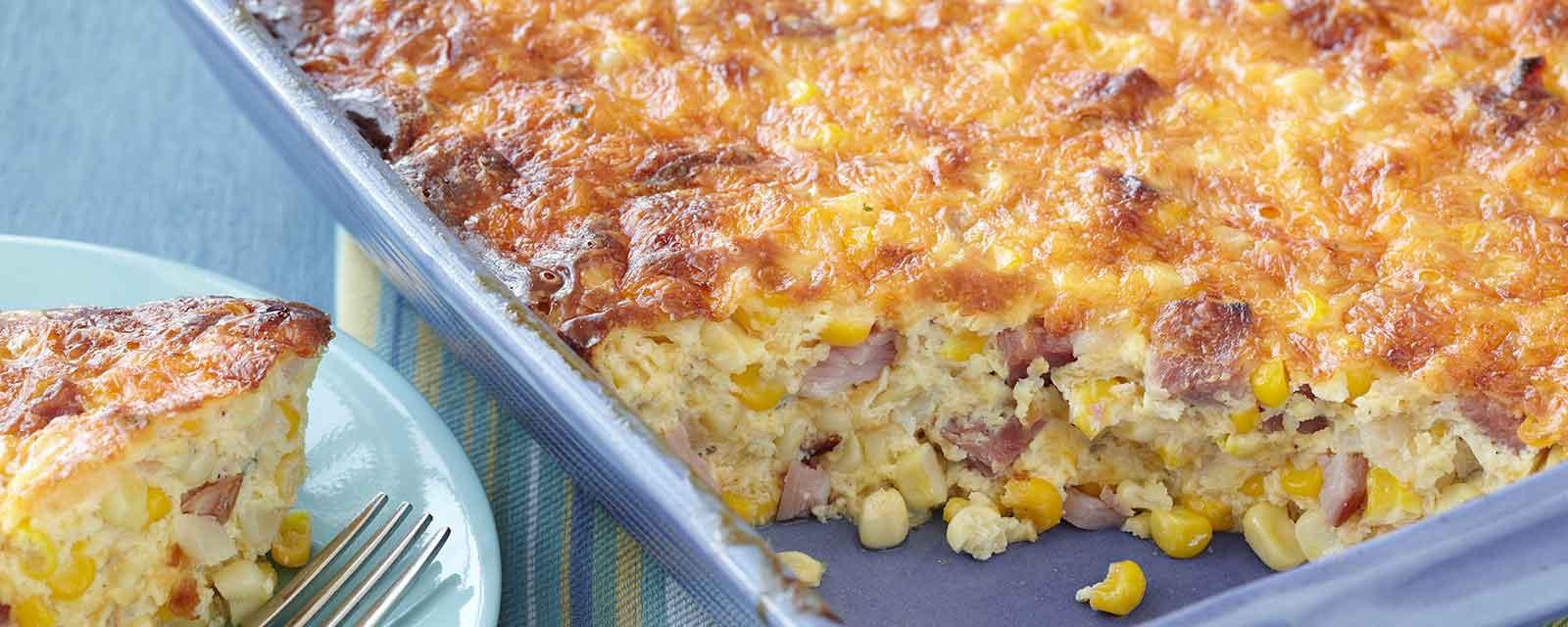 Ham Amp Corn Brunch Casserole Recipe Hidden Valley 174 Ranch