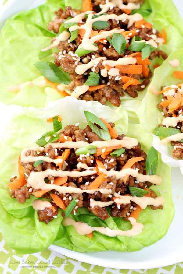 Asian Pork Lettuce Wraps