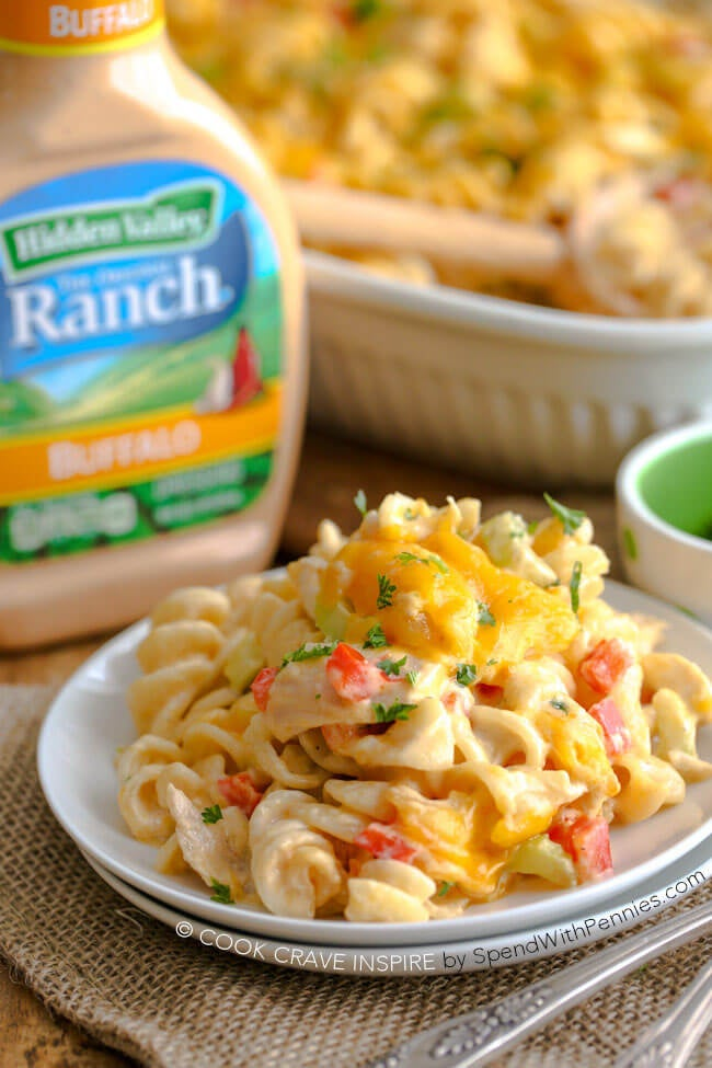 Ranch Buffalo Pasta Salad