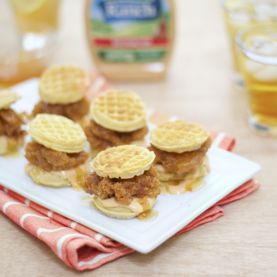 Sweet & Spicy Lovers Rejoice: Bite-sized Ranch Chicken & Waffles in 5 Simple, Stackable Steps