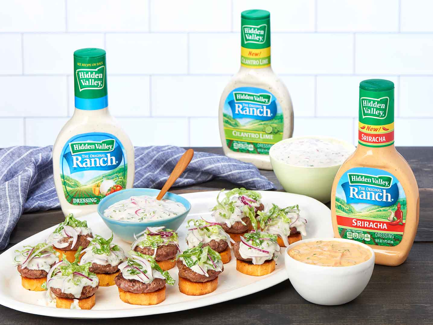Open Faced Sweet Potato Stack With Asian Style Slider Sauce Hidden Valley Ranch