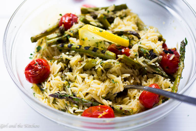 Zesty Grilled Asparagus and Lemon Orzo | Hidden Valley®