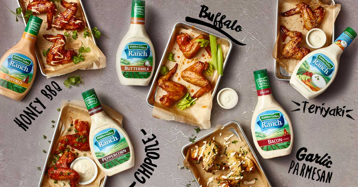 6 Ways to Ranch Out Wings
