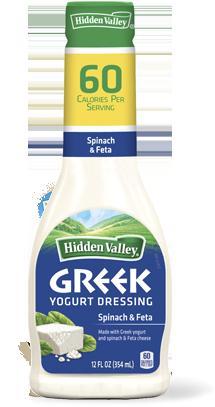 Hidden Valley<sup>®</sup> Greek Yogurt Spinach & Feta