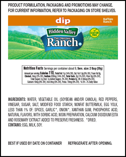 Buffalo Ranch nutritional facts