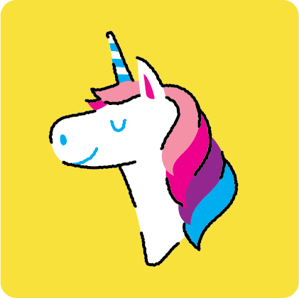 on a unicorn