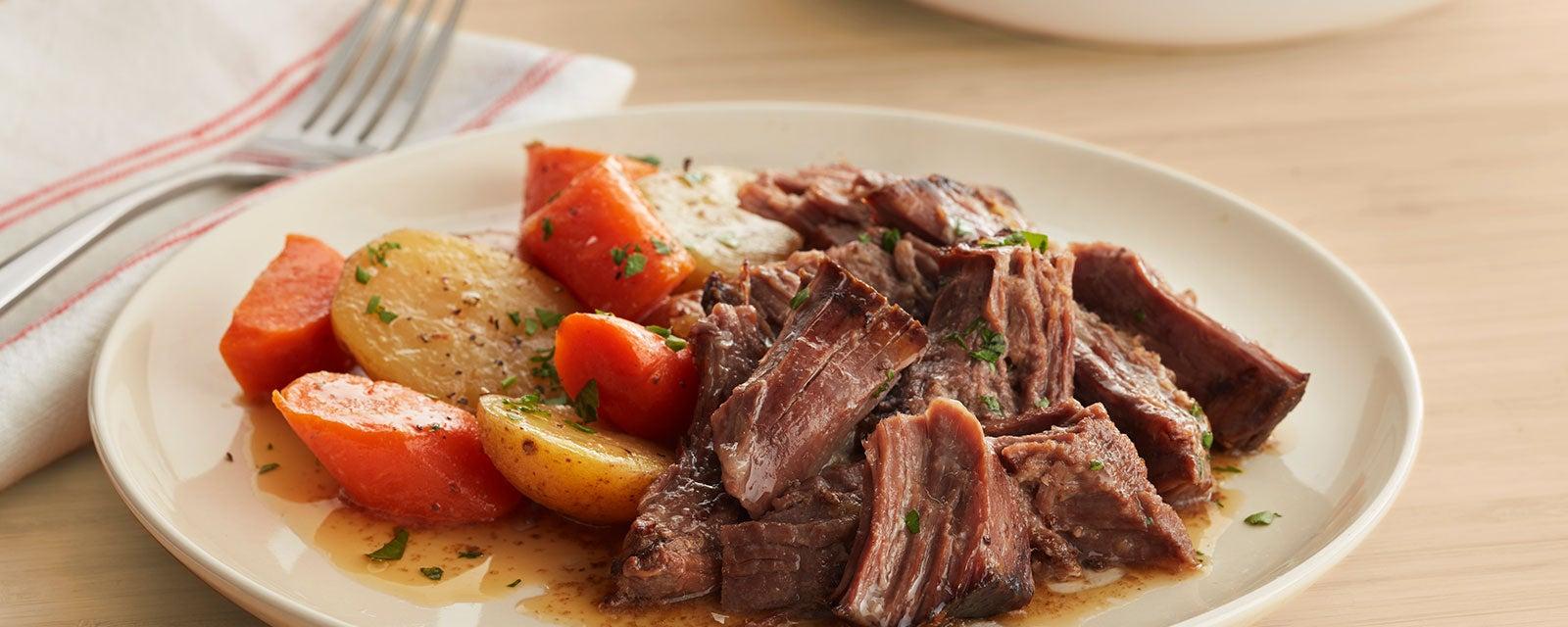 Slow Cooker Ranch Beef Pot Roast Hidden Valley 174 Ranch