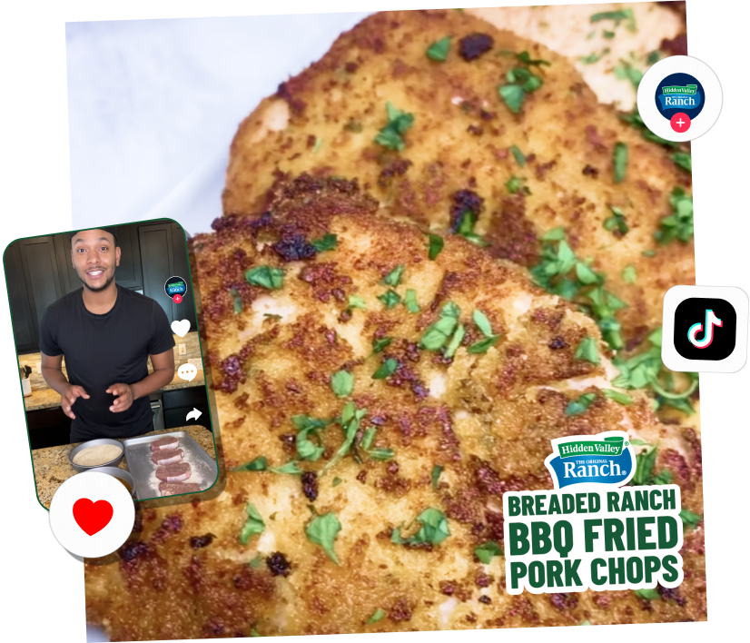 breaded bbq fried pork chops
