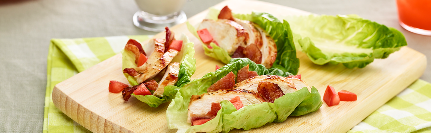 Ranch Chicken and Bacon Lettuce Wraps
