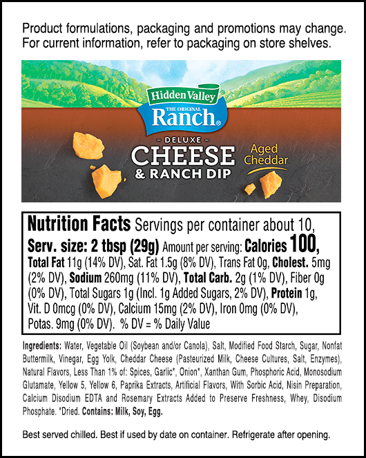 Aged Cheddar nutritional facts