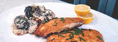 Ranch Chicken Cutlets & Potatoes with Mustard Ranch