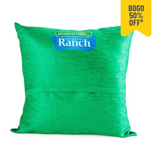 ranch throw pillow back