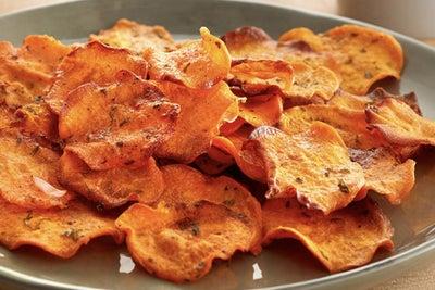 Kid Friendly Ranch Sweet Potato Crisps & Works of Art