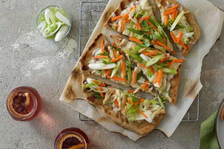 Asian Garden Vegetable Flatbread