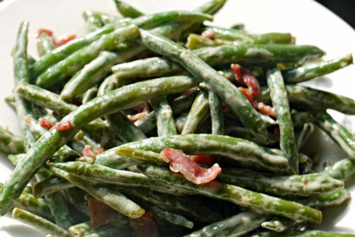 Bacon Ranch Sauteed Green Beans