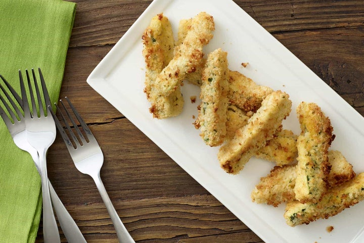 Baked Ranch Zucchini Strips