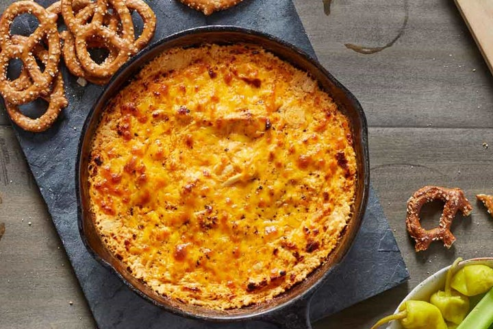 Buffalo Ranch Chicken Dip (Baked or Slow Cooker)