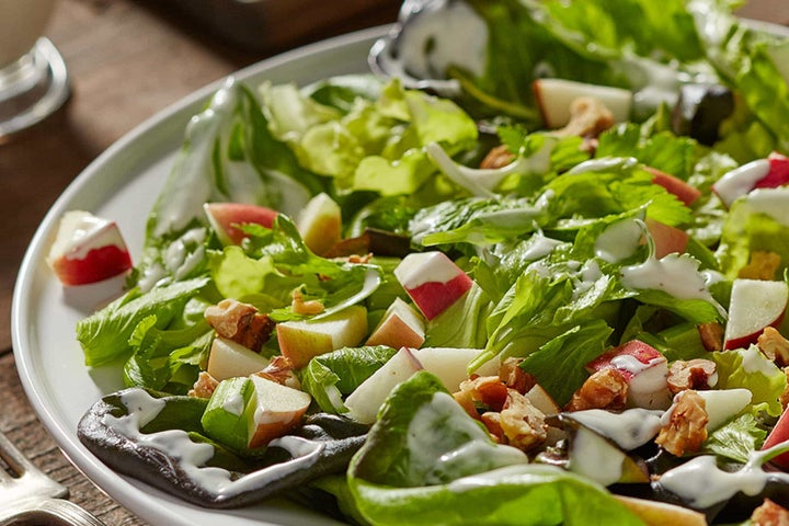 Celery Salad with Apples, Walnuts and Ranch