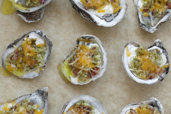 Cheddar Parmesan Ranch Grilled Oysters