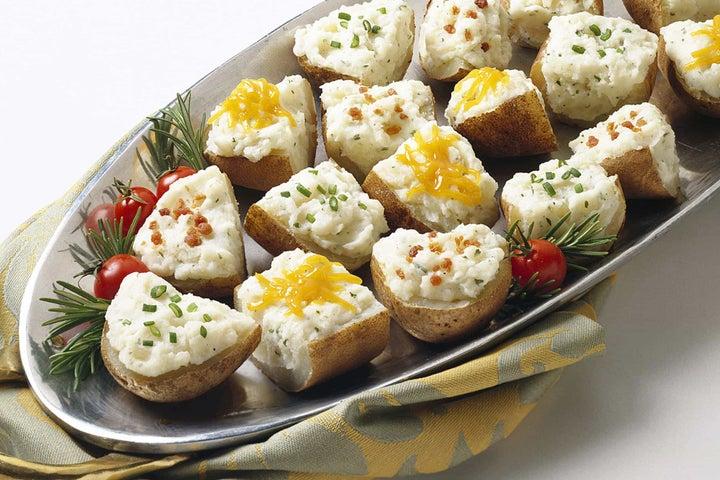 Cheesy Cheddar Potato Boats