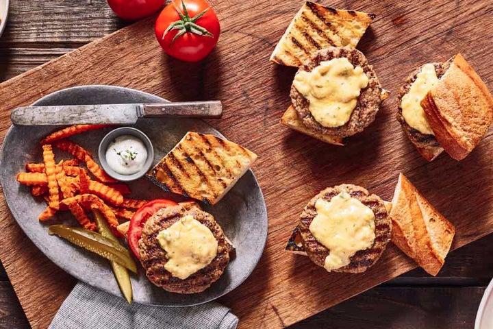 Cheesy Ranch Turkey Burgers