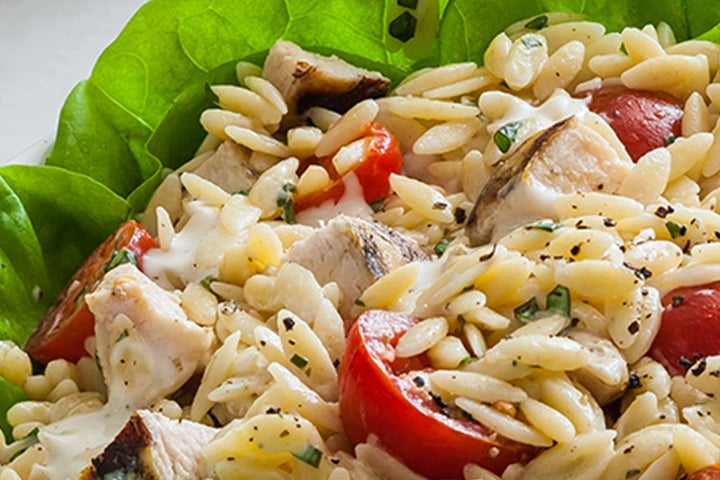 Chicken Basil Orzo Salad