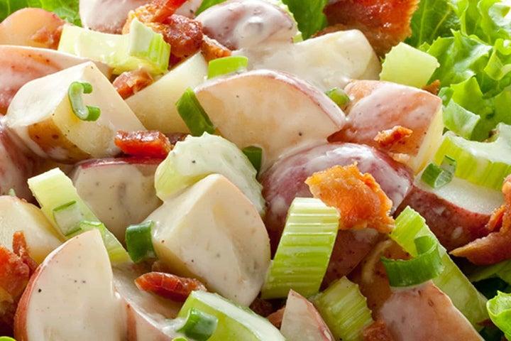 Classic Cheese and Bacon Potato Salad
