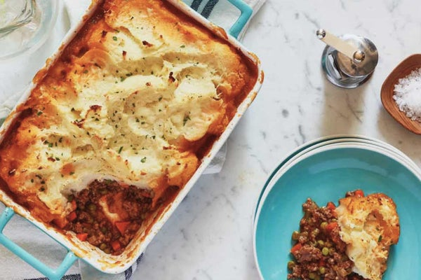 Shepherd's Pie with a Potato-Buttermilk Ranch Crust