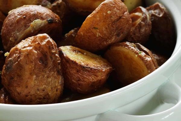 Cowboy Potatoes & Asparagus with Rancher Dip
