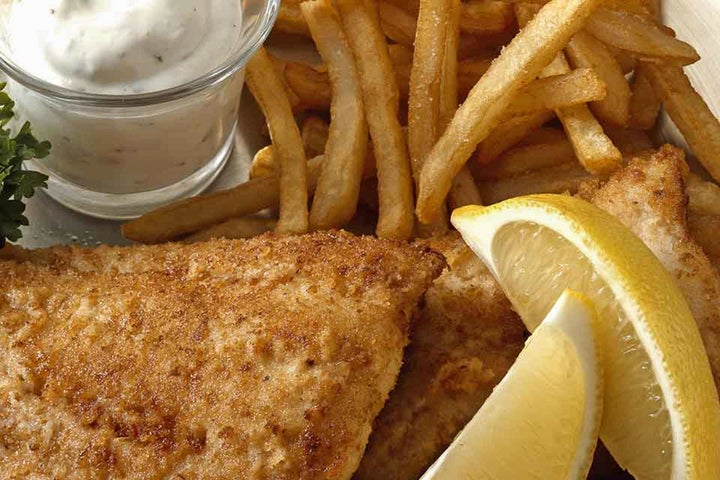 Fish with Hidden Valley Ranch Tartar Sauce