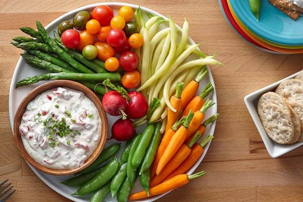 Garden Vegetable Ranch Dip