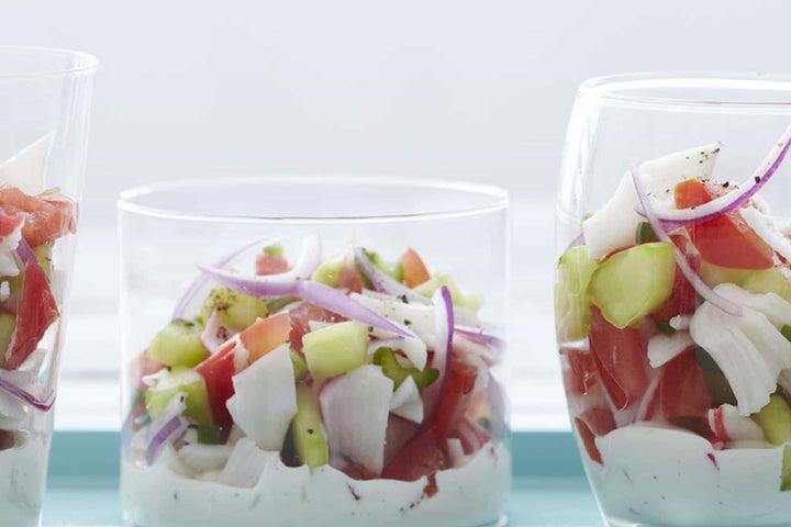 Gazpacho Crab Salad