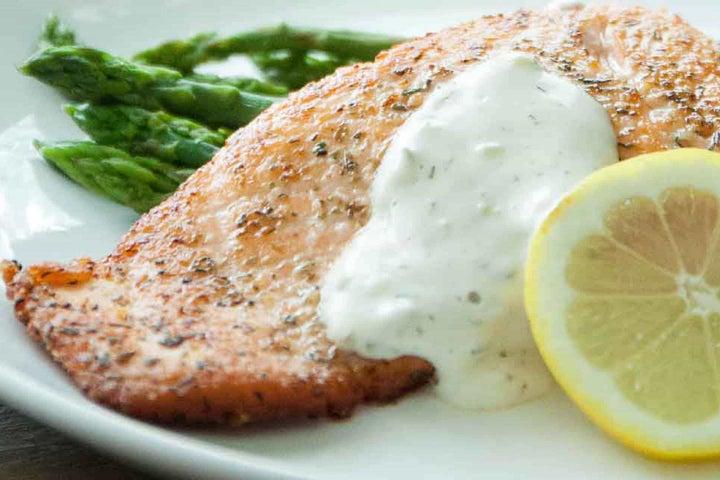 Salmon with Hidden Valley® Greek Yogurt Ranch