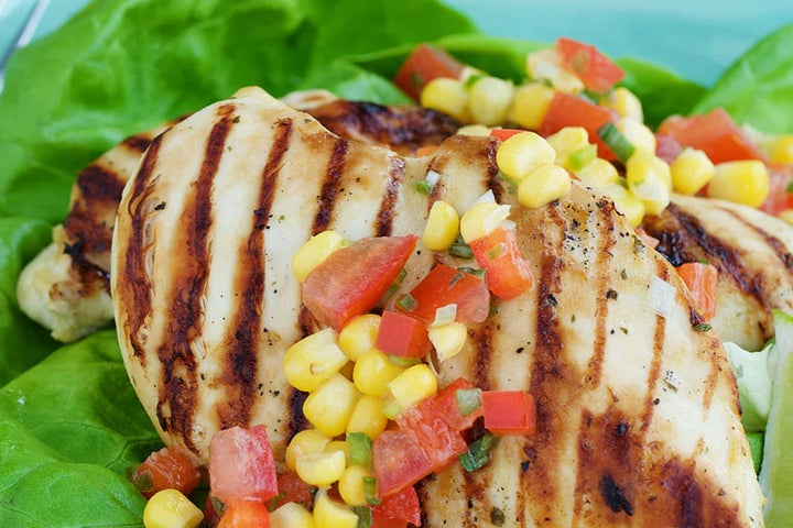 Grilled Ranch Chicken with Corn Salsa