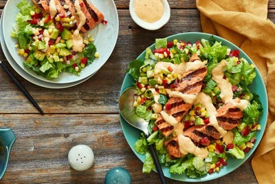 Grilled Salmon with Chili Lime Corn Salsa